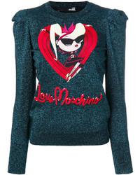 Love Moschino Metallic Gather Sleeve Top