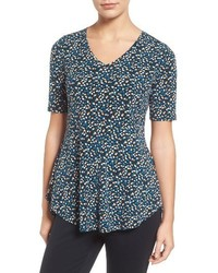 Chaus Mosiac Escape V Neck Top