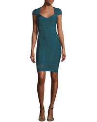 Herve Leger Crochet Trim Bandage Cocktail Minidress