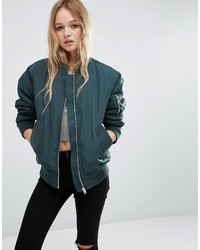 Asos Luxe Padded Bomber Jacket