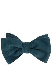 Dibi Teal Corduroy Pre Tie Bow Tie