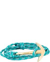 Miansai Anchor On Rope Bracelet Blue