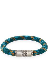 John Hardy Classic Chain Slim Cord Bracelet Green Multi Large