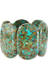 Devon Leigh Compressed Turquoise Stretch Bracelet