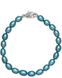 Honora Style Teal Cultured Freshwater Pearl Bracelet In Sterling Silver