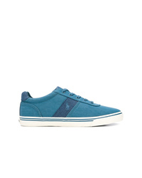 Teal Canvas Low Top Sneakers