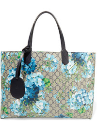 Gucci Gg Blooms Reversible Coated Canvas Tote