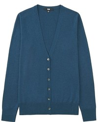 Uniqlo Extra Fine Merino Wool V Neck Cardigan