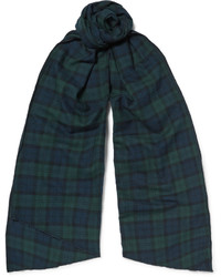 Engineered Garments Black Watch Checked Brushed Cotton Flannel Scarf