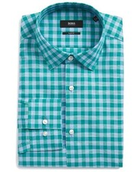 BOSS Jenno Slim Fit Check Dress Shirt