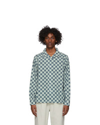 Stussy Indigo And Green Dice Checker Shirt
