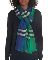 Burberry Rainbow Giant Check Scarf