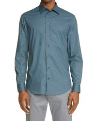 Emporio Armani Chevron Stretch Dress Shirt