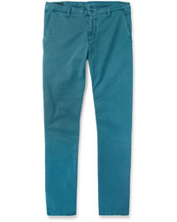 Gucci Slim Fit Washed Cotton Trousers