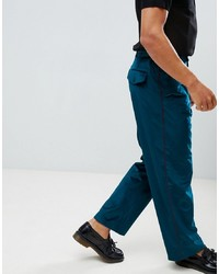 ASOS DESIGN Velvet Wide Leg Smart Trouser With