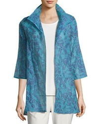 Tonal ribbon topper jacket blue plus size medium 3651538