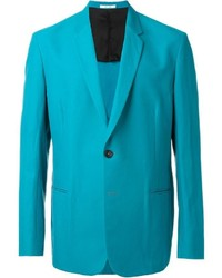 Teal Cotton Blazer