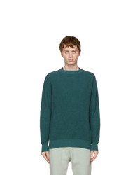 Loro Piana Blue Flax And Silk Prescott Roundneck Sweater