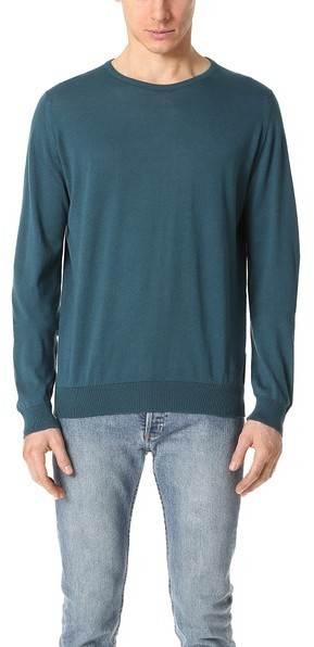 John Smedley Hatfield Crew Neck Sea Island Cotton Sweater | Where ...
