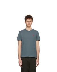 AMI Alexandre Mattiussi Blue Ami De Coeur T Shirt