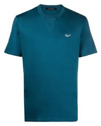 Ermenegildo Zegna Embroidered Logo Cotton T Shirt