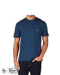 Original Penguin Pin Point T Shirt Blue Teal