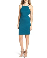 ASTR Textured Cutout Body Con Dress