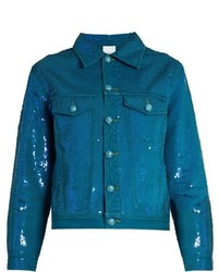 Teal Denim Jacket
