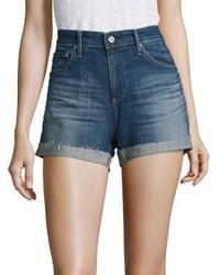 AG Jeans Ag Hailey Slouchy Cuffed Denim Shorts