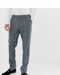 Noak Slim Fit Harris Tweed Suit Trousers In Blue