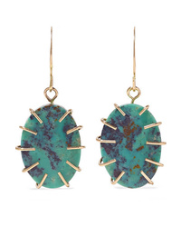 Melissa Joy Manning 14 Karat Gold Turquoise Earrings