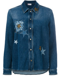 RED Valentino Star Embellished Denim Jacket
