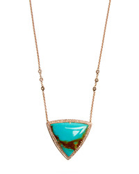 Jacquie Aiche Diamond Turquoise Rose Gold Necklace
