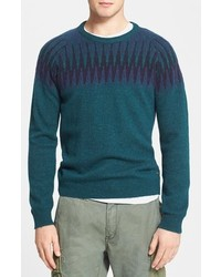 Fair isle crewneck sweater medium 124367