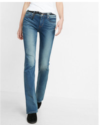 Express Mid Rise Stretchsupersoft Barely Boot Jeans