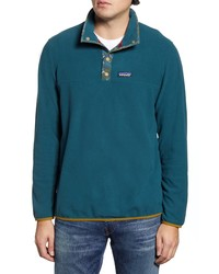 Teal Fleece Mock-Neck Sweater