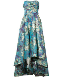 Marchesa Notte Floral Brocade Gown