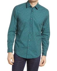 BOSS Lukas Regular Fit Floral Stretch Button Up Shirt