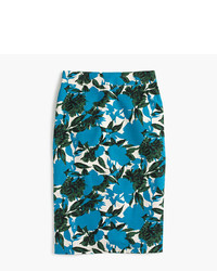 J.Crew Petite No2 Pencil Skirt In Vibrant Floral