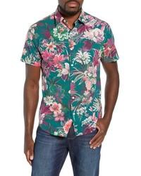 Premium slim fit floral sport shirt medium 8801338