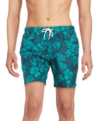 Trunks Surf Swim Floral Print Swim Shorts