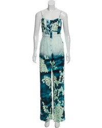 Misha Nonoo Printed Silk Jumpsuit W Tags