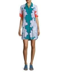 3.1 Phillip Lim Surf Silk Floral Shirtdress