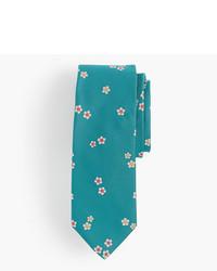 J.Crew Silk Tie In Daisy Floral