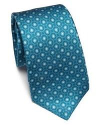 Teal Floral Tie