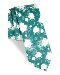 The Tie Bar Hodgkiss Flowers Linen Tie