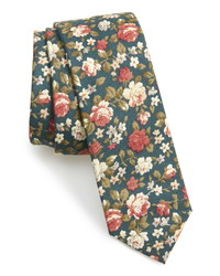 The Tie Bar Moody Floral Cotton Tie