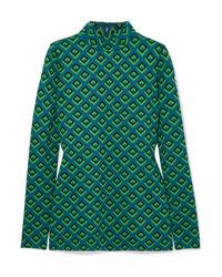 Diane von Furstenberg Jacquard Knit Turtleneck Top