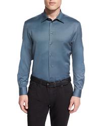 Armani Collezioni Mini Gingham Sport Shirt Green