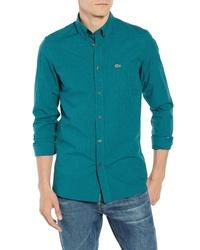 Lacoste Regular Fit Gingham Stretch Poplin Sport Shirt